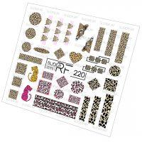 Слайдер дизайн SLIDER RF design nails (74мм х 71мм) -220- СЛАЙДЕР РФ