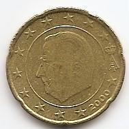 20 евроцентов Бельгия 2000 регулярная из обращения