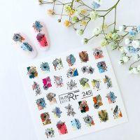 Слайдер дизайн SLIDER RF design nails (74мм х 71мм) -244- СЛАЙДЕР РФ