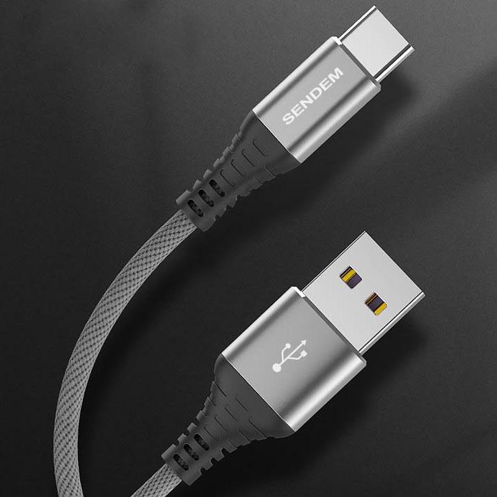 SENDEM M12S кабель USB 5A (TYPE C) 1.2м