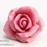 Роза Элен средняя, силиконовая форма, 40г