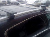 Багажник на интегрированные рейлинги Евродеталь, черные крыловидные дуги