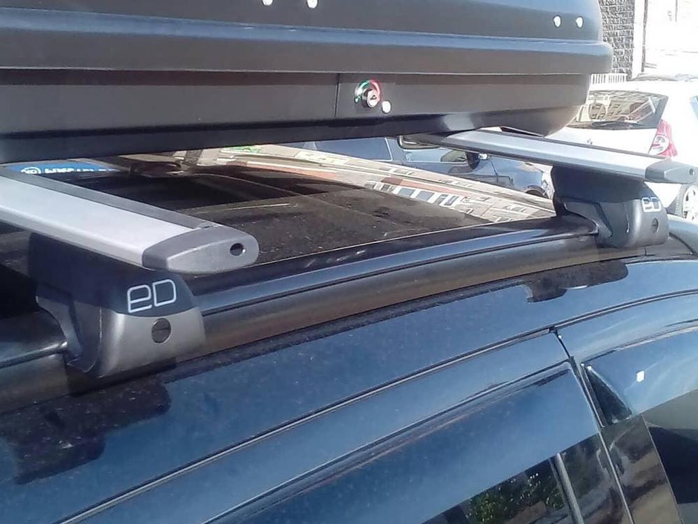 Багажник на интегрированные рейлинги Mitsubishi ASX, Евродеталь, крыловидные дуги