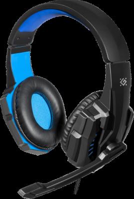 НОВИНКА. Игровая гарнитура Warhead G-390 черный+синий, кабель 1,8 м