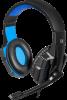 Игровая гарнитура Warhead G-390 черный+синий, кабель 1,8 м