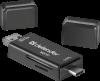 Распродажа!!! Универсальный картридер Multi Stick USB2.0 TYPE A/B/C  - SD/TF