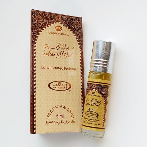 Арабские масляные духи Sultan al Oud | Султан аль Уд | 6 мл | Al-Rehab | Унисекс