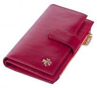 Женский кожаный кошелек Narvin 9687-N.Vegetta Red