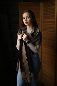 """шотландский теплый плотный большой шарф  100% шерсть мериноса, """"Артизан Верблюжий"""" ARTISAN SCARF CAMEL, плотность 5"""
