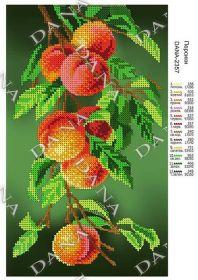 Dana DANA-2357. Персики схема для вышивки бисером купить оптом в магазине Золотая Игла