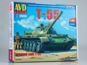 Сборная модель Средний танк Т-55