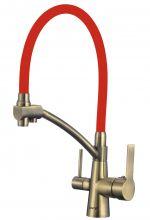 Смеситель для мойки бронзовый под фильтр Savol S-L1805C-03