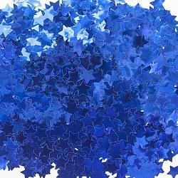 Конфетти фольга Звезда, Синий, Металлик, 1,5 см, 50 гр.