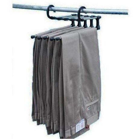 Вешалка в шкаф для брюк и другой одежды - 5 в 1