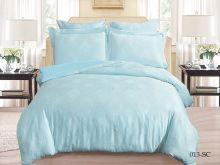Комплект постельного белья Лен Soft cotton жаккард    2-спальный Арт.21/013-SC
