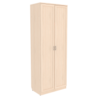 Шкаф для белья со штангой и полками арт. 101 (молочный дуб)