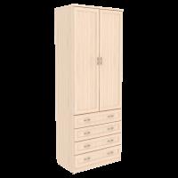 Шкаф для белья со штангой и ящиками арт. 103 (молочный дуб)