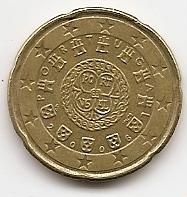 20 евроцентов Португалия 2006 регулярная из обращения