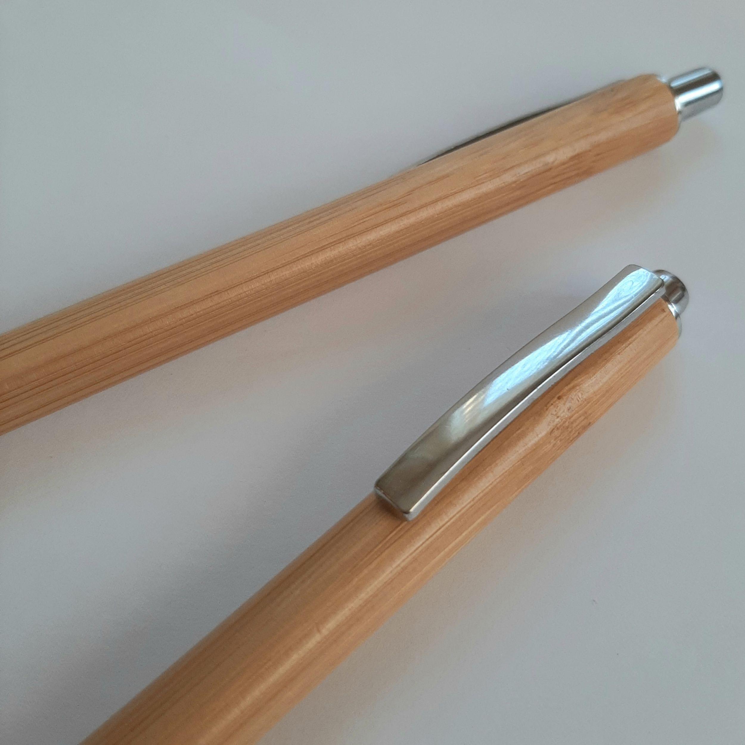 ручки из бумбука с логотипом
