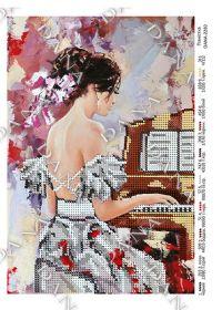 Dana DANA-2280. Пианистка схема для вышивки бисером купить оптом в магазине Золотая Игла