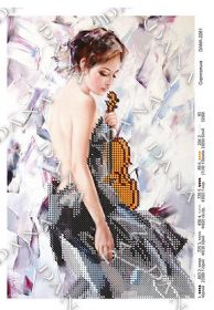 Dana DANA-2281. Скрипачка схема для вышивки бисером купить оптом в магазине Золотая Игла