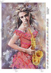 Dana DANA-2282. Саксофонистка схема для вышивки бисером купить оптом в магазине Золотая Игла