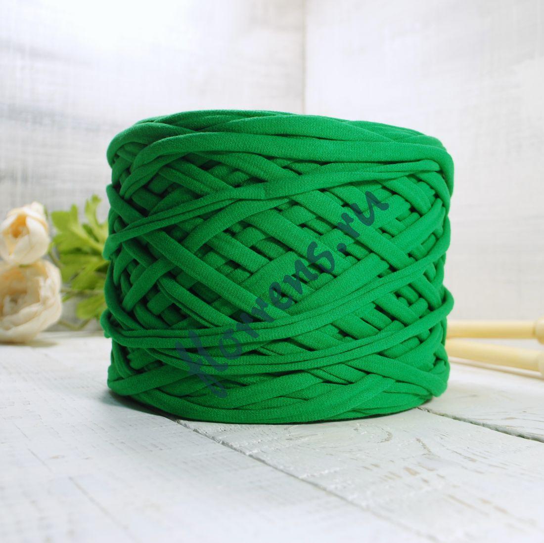 Трикотажная пряжа / зеленый