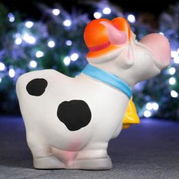 Копилка Корова в шляпе «Всё хорошо»