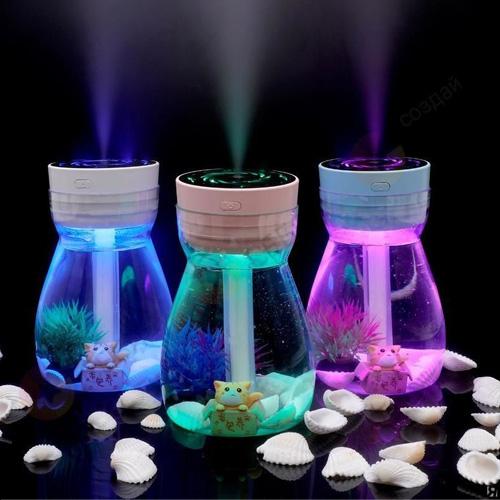 Увлажнитель воздуха-ночник Humidifier Fenghuang sever color lamp bottle