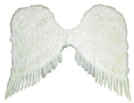 Крылья перьевые белые (90*65 см)