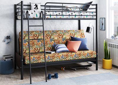 Двухъярусная кровать с диваном Мадлен-2
