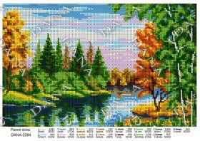 Dana DANA-2294. Ранняя Осень схема для вышивки бисером купить оптом в магазине Золотая Игла