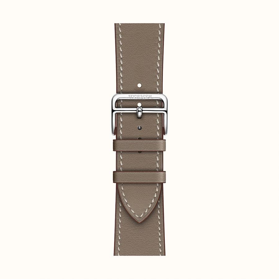 Ремешок Apple Watch Hermès Etoupe Leather Single Tour из кожи (для корпуса 44 мм)