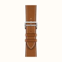 Ремешок Apple Watch Hermès Fauve Barenia Leather Single tour Deployment Buckle из кожи (для корпуса 44 мм)