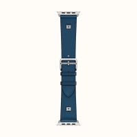 Ремешок Apple Watch Hermès Deep Blue Leather Double Tour Medor из кожи (для корпуса 40 мм)
