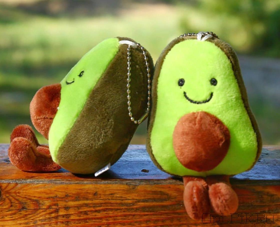 Брелок Авокадо мягкий тканевый