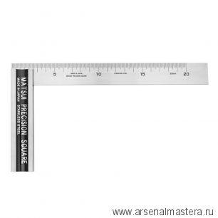 Угольник японский большой с упором с разметкой Matsui 200 мм 225 х 120 мм DICTUM 718637 М00018099