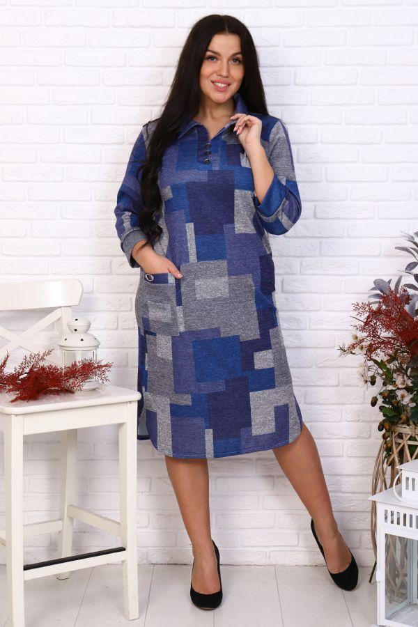 Платье Слобода [синий]