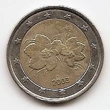 2 евро  Финляндия  2003  регулярная из обращения