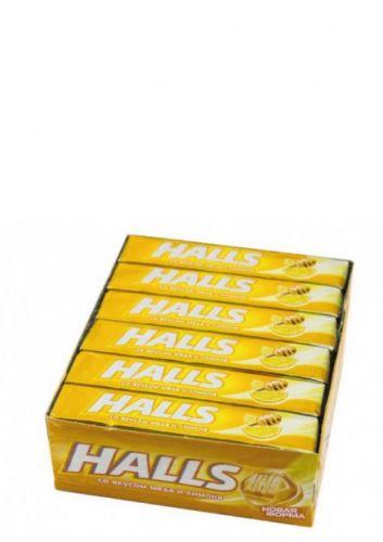 Леденцы Halls Мёд и лимон 12 шт