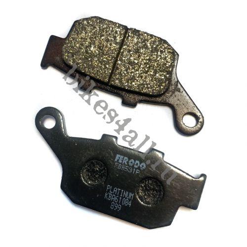 Колодки тормозные задние Ferodo для Honda CB-1 / CB400 92-98 / CB500F/X 13+ / CBR250 87+ / CBR400 88-98 / CBR500R/RA 13+ / NT650 / NX650 / VFR400R 90-94 / XL600V / XL650V 00-10 / XRV750 90-01