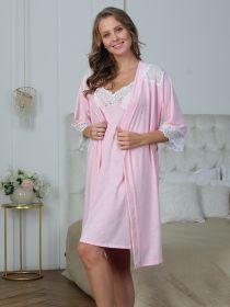 Комплект для дома и роддома Olivia розовый меланж 6366