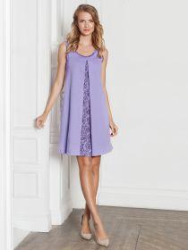 Сорочка для кормящих «Natali» фиолет ™Viva Mama арт. 4904