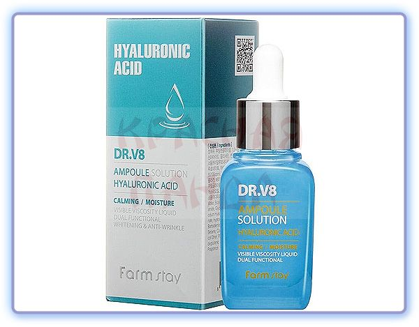 FarmStay DR-V8 Ampoule Solution Hyaluronic Acid