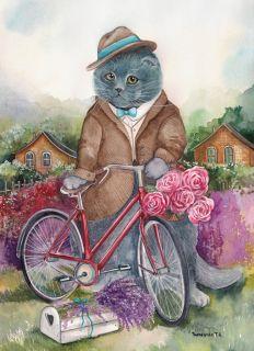 Почтовая открытка Кот с душой поэта