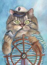 Почтовая открытка Морской волк Матроскин