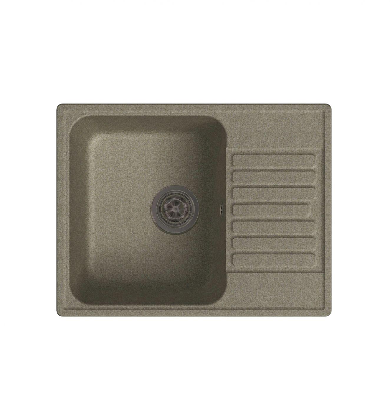 Врезная кухонная мойка LEX Garda 620 Sand 62х48см полимер RULE000017