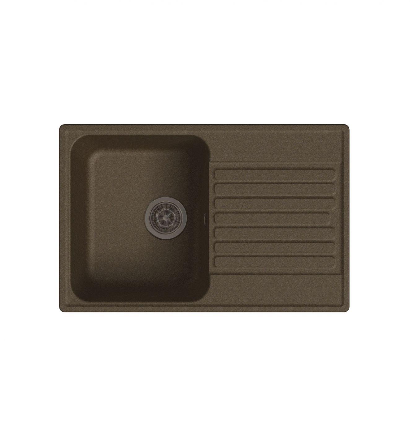 Врезная кухонная мойка LEX Geneva 740 Chocolate  74х48см полимер RULE000021