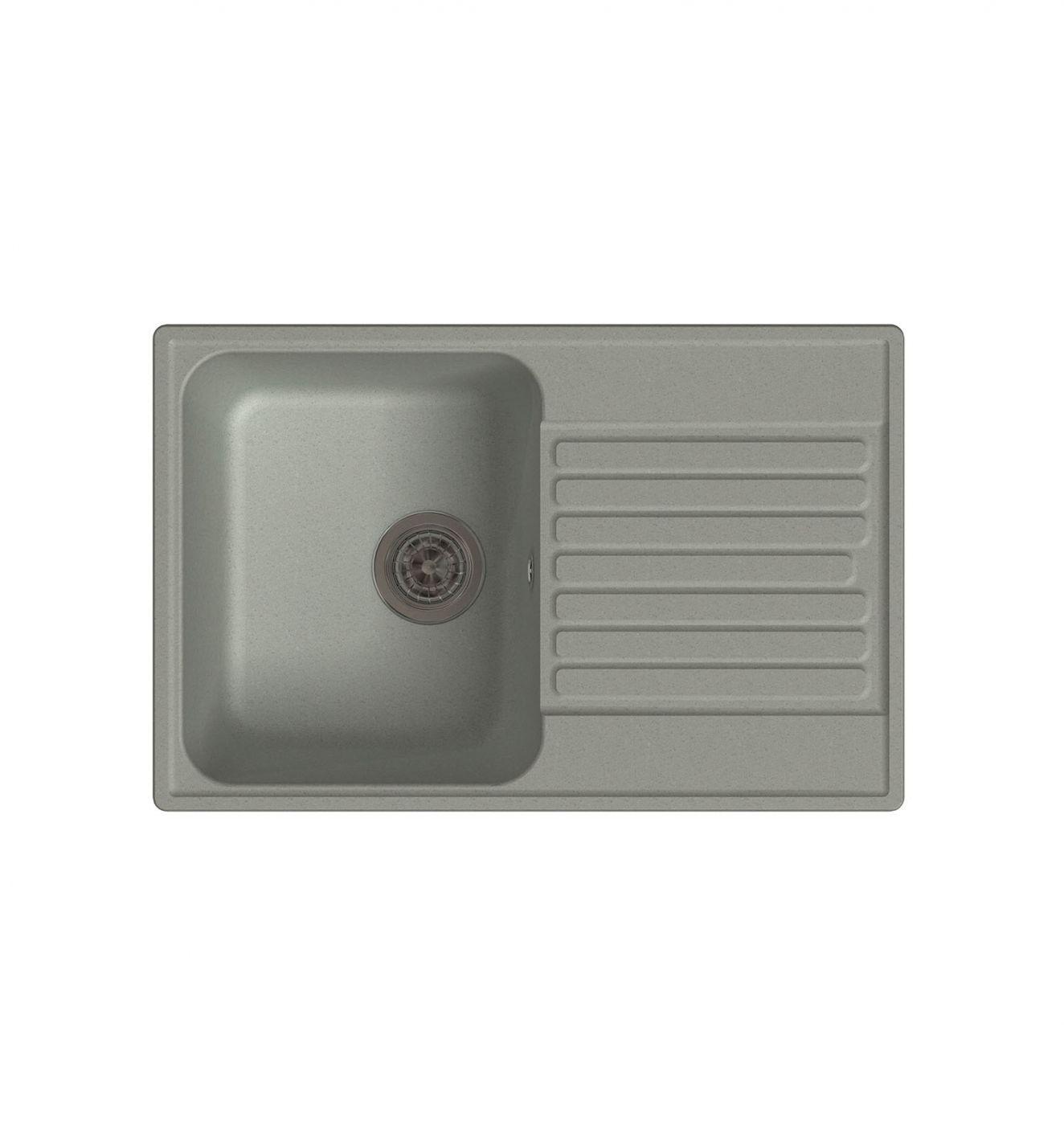 Врезная кухонная мойка LEX Geneva 740 Space Gray  74х48см полимер RULE000024