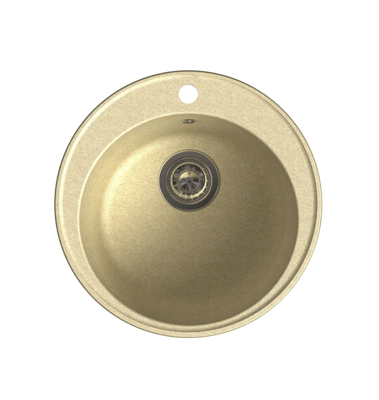 Врезная кухонная мойка LEX Lugano 480 Ivory  48х48см полимер RULE000004